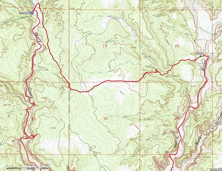 Upper Paria River Map